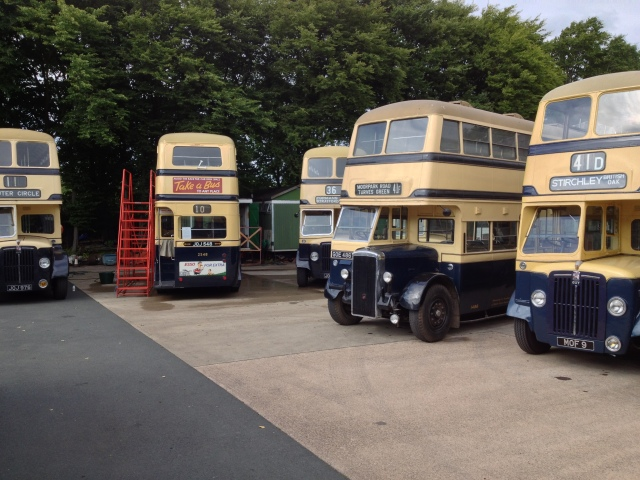 Blue & Cream buses ready for the off for the August bank Holiday weekend