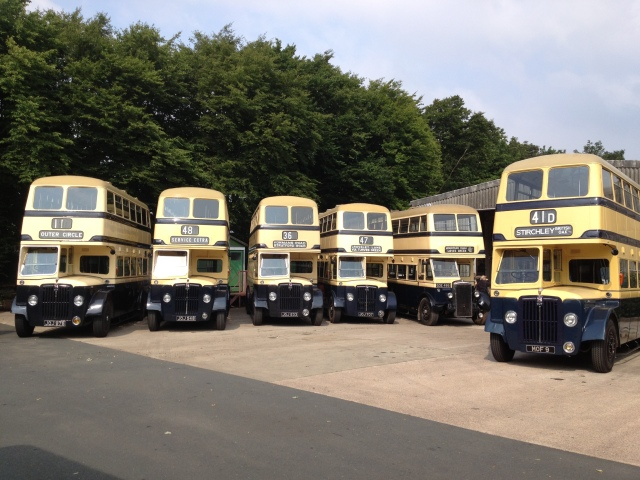 The Blue & Cream buses gathering at Wythall on Saturday the 24th Sept