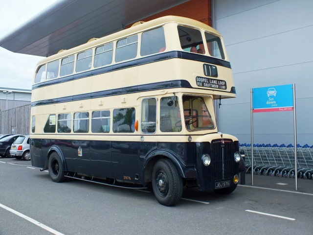 """Our"" bus at Tesco in Witton whilst we stop for a cuppa, taken in 2013."