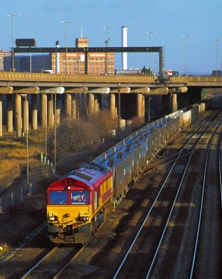 66014 approaches the site of Bromford Bridge Station in 1999 - 34 years after the racecourse closed