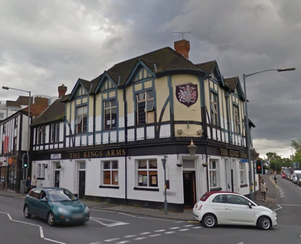 The Kings Arms in Harborne in 2012 before the fire that devastated the roof.