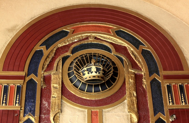 Royalty Cinema Harborne - interior Art Deco feature above fire doors