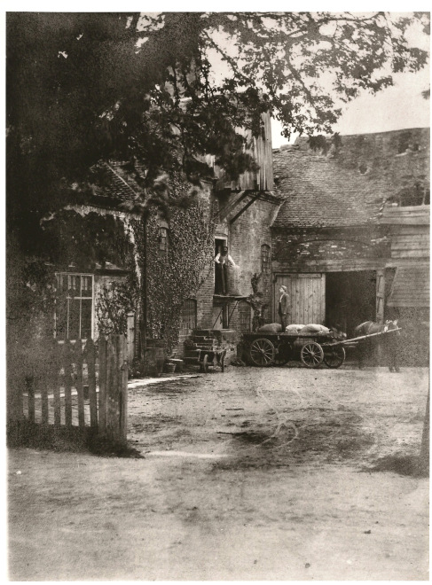 Sarehole Mill in 1870 seen across the yard from Wake Green Road, close to where the bus stop is now.