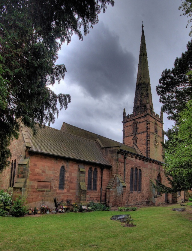 St Edburgha's church in Yardley. The church had six bells by 1902. The sixth bell had been produced by James Barwell of Birmingham, who also produced new bearings for all the bells. At the same time, the oak frame within the spire was repaired. In 1949, it was discovered that the church tower had become infested with death watch beetles resulting in problems with ringing the bells. On 1 May 1949, the bells stopped ringing to allow work to begin on repairing the frame and recast the bells. The new ring of bells was dedicated by Michael Parker, the Archdeacon of Aston in September 1950.