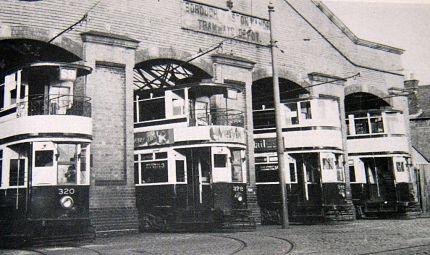 Trams at Witton (Aston Manor) Tram Depot