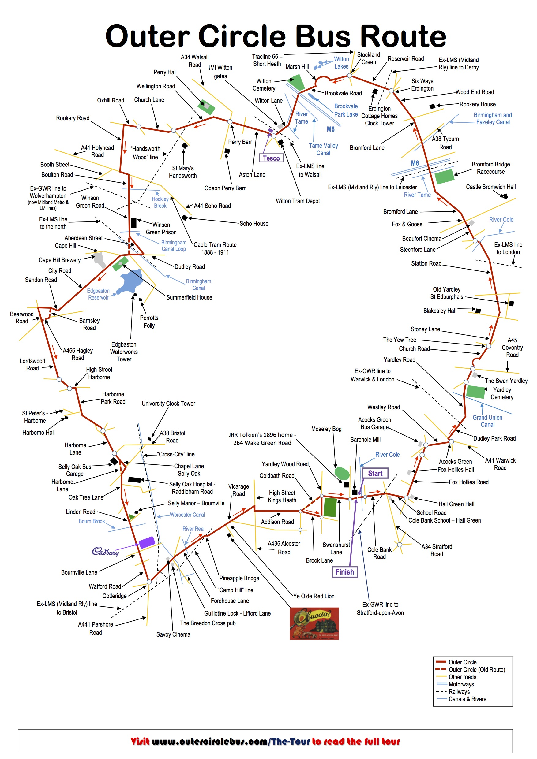 Outer Circle Map Outer Circle Bus Take your own Guided Tour